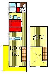 ソネット東船橋[3階]の間取り