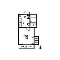 朝倉メゾンF−I[105号室]の間取り