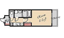 レジュールアッシュ都島[504号室号室]の間取り