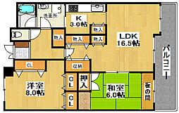 KOKOレジデンス A棟[7階]の間取り