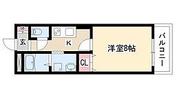 愛知県名古屋市緑区大将ヶ根2丁目の賃貸マンションの間取り
