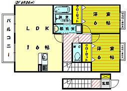 [タウンハウス] 福岡県糟屋郡新宮町大字湊 の賃貸【福岡県 / 糟屋郡新宮町】の間取り