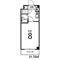 ブランベ−ジュ桂[215号室]の間取り