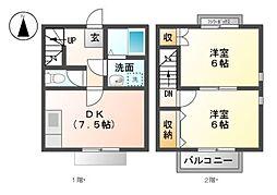 [テラスハウス] 岐阜県岐阜市野一色7丁目 の賃貸【/】の間取り