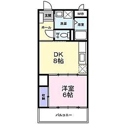 エスポワールパート2[2階]の間取り