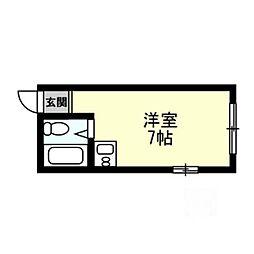 和マンション[2階]の間取り