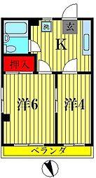 コーポ飯島[3階]の間取り