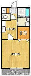 コパンジャンティ原[3階]の間取り