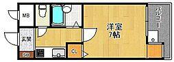 メゾン大和5号館[5階]の間取り