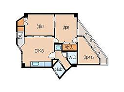 松島コーポ[2階]の間取り