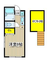 サザンウィンズ横浜[203号室]の間取り