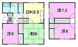 [一戸建] 愛媛県松山市古川西2丁目 の賃貸【/】の間取り