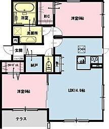 千葉県浦安市富士見1の賃貸マンションの間取り