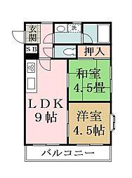 ステージ稲荷[1階]の間取り