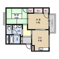 パストラル22[2階]の間取り