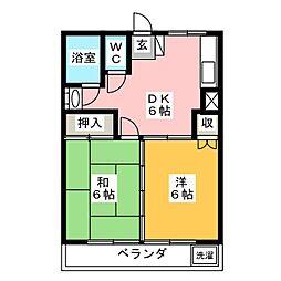 第1纐纈ビル[3階]の間取り
