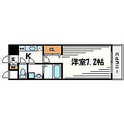 アーデン甲子園[3階]の間取り
