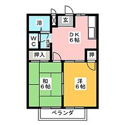 スプリングハイム[1階]の間取り