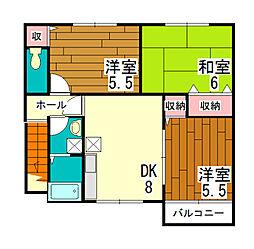 サンフロール神戸北II[2階]の間取り