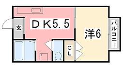 アプリコットK[203号室]の間取り