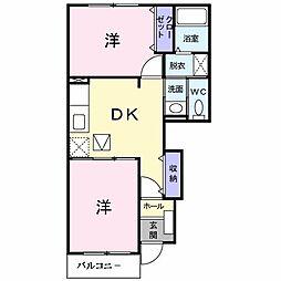 和歌山県和歌山市木ノ本の賃貸アパートの間取り