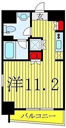 サンイング飯田橋 2階ワンルームの間取り