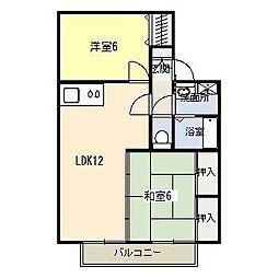 ソレイユ加納 B棟[1階]の間取り