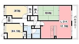 兵庫県西宮市高木東町の賃貸マンションの間取り
