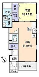 センターウイング[1階]の間取り
