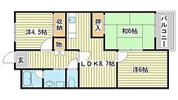 カサ・ディ・フォーレ[4階]の間取り