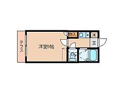 東京都大田区東六郷2丁目の賃貸アパートの間取り