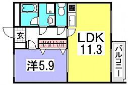 井口台FLATS[1階]の間取り