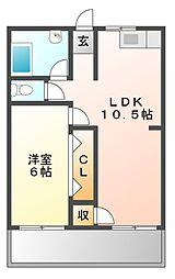 コーポラスサカエ[2階]の間取り