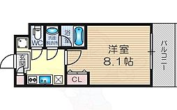 Osaka Metro御堂筋線 東三国駅 徒歩7分の賃貸マンション 5階1Kの間取り