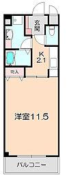 コージィコート桜井[205号室]の間取り