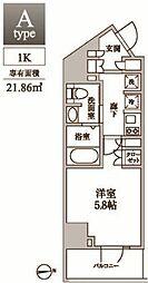 東京都品川区東中延2丁目の賃貸マンションの間取り