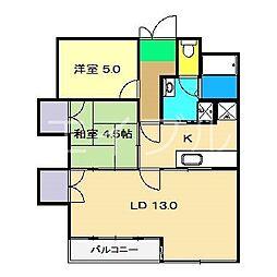 メイプル高須[3階]の間取り