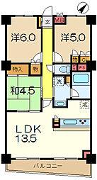 ガーデンコート洋光台[1階]の間取り