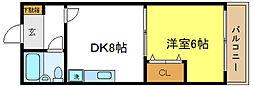 シェモア平野[2階]の間取り