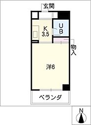NOA松野[3階]の間取り