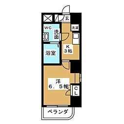 ヴィアーレ バグース[6階]の間取り