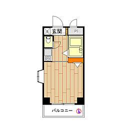モナークマンション祐天寺[0405号室]の間取り