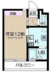 東京都北区豊島2丁目の賃貸マンションの間取り
