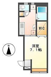 愛知県名古屋市西区大野木4丁目の賃貸アパートの間取り
