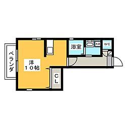 カーサ田代II[2階]の間取り