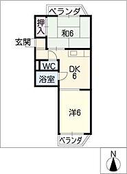 レジデンス入場PartII[1階]の間取り