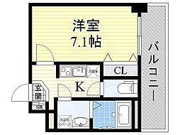 アドバンス大阪ベイシティ[4階]の間取り
