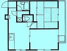 天野マンション[3階]の間取り