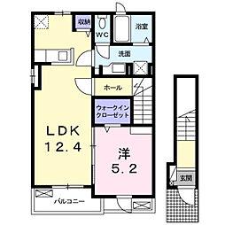 深野3丁目アパート[0203号室]の間取り