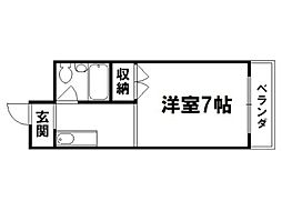 シャンブル伊川[3階]の間取り